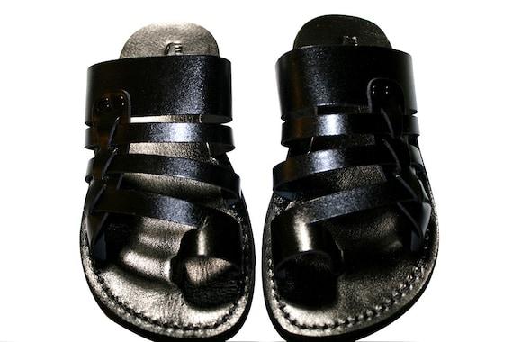 Leather Skate Unisex Jesus Leather Women Sandals amp; Men Flops Flip Sandals Sandals Sandals Black Handmade Black For Sandals 65W7q6d