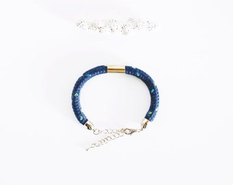 Single Rope Bracelet  - Cord with bead