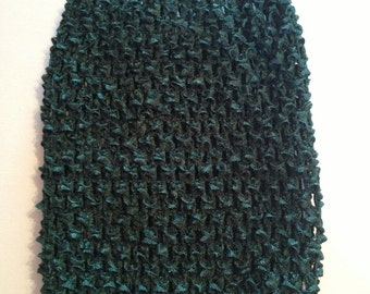 """CLEARANCE SALE- Small Emerald Green 4.5"""" Crochet Tube Top for Tutu Dresses"""