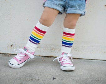 Kiss my socks - Rainbow Striped
