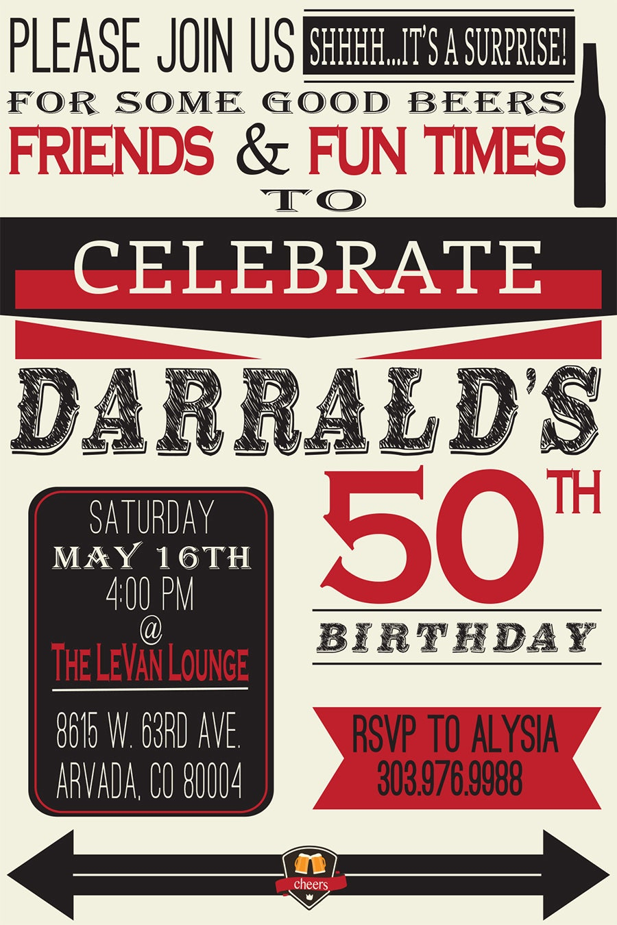 Modern 40th Birthday Party Invites Inspiration - Invitations and ...
