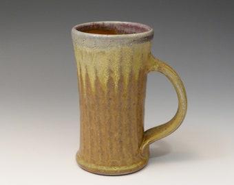 Gossman Mug, Stoneware, Pint Glass, Yellow Sunburst, Oribe, Granite