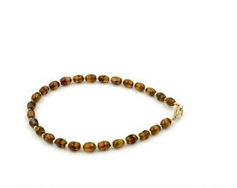 Free Shipping,Amber Beaded Bracelet,dainty beaded bracelet,layering bracelet,gold filled bracelet,handmade beaded bracelet,amber bracelet