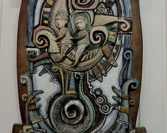 Childhood\ Ceramic wall art\Fine art ceramics\Decorative panno