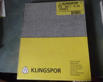50 Piece Pack of Klingspor Sandpaper-Choice of Grit Sizes-280 or 220-New In Package