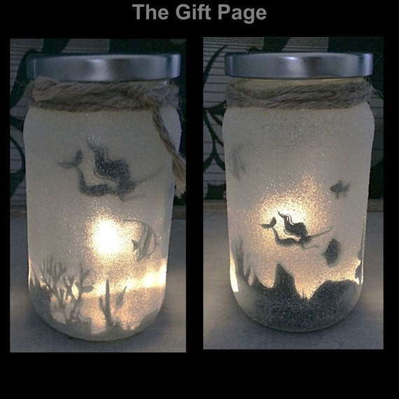 Night Light Mood Lighting Mermaid In A Jar Fairy Jar