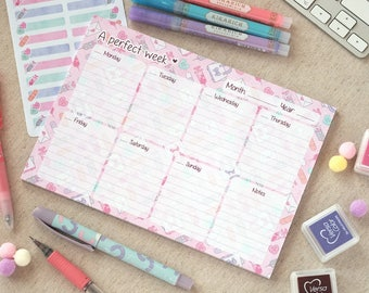 Weekly Planner Pad A5 ~Love is my Medicine~