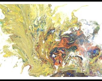Flüssigkeit Papier drucken abstrakte Malerei, original Gemälde Acryl-Malerei Flüssigkeit Acryl-Malerei abstrakte original Gemälde Giclee print