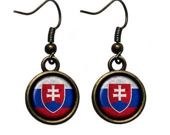 Slovakia Slovakian Flag Earrings