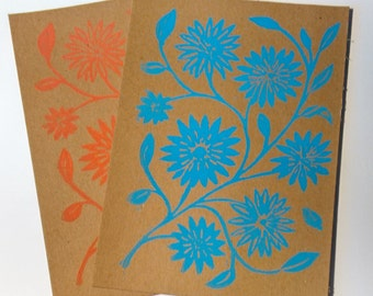Blue & Red Flower Cards
