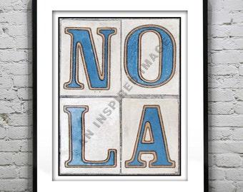 New Orleans Poster Art Print Street Tile NOLA Original Louisiana Version 17
