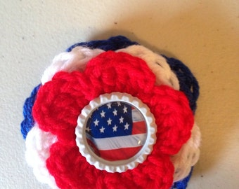 Red, White, and Blue Hair Clip