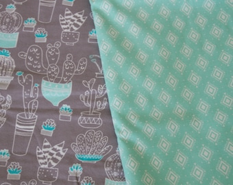 """Made To Order, """"Cactus"""", Handmade Flannel Adult Throw Quilt"""