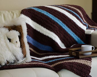Crochet Blanket, Chunky Blanket, Chunky Knit Blanket Throw Blanket, Crochet Afghan Blanket, Chunky Knit Throw, Thick Blanket, Man Cave Decor