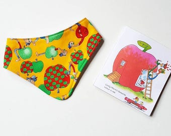 Lowly Worm Richard Scarry Busytown Apples yellow bandana baby bib