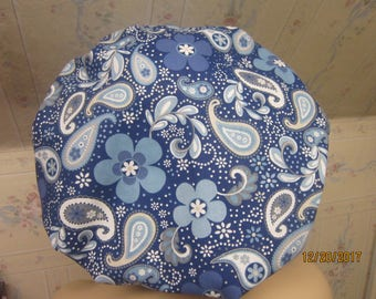PRETTY PAISLEY  BOUFFANT scrub  hat / medical / sugical / Adjustable--handmade-comfort band