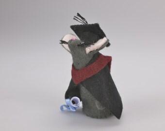 Graduation Mouse. Handmade felt mouse. Congratulations. University mouse. keepsake gift