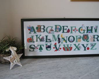 Picture cross-stitch Alphabet country