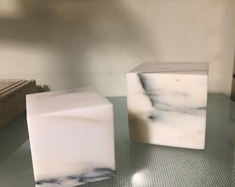 Decorative Marble Cube - Marble Paper Weight - Italian Marble Handmade - Italian Design