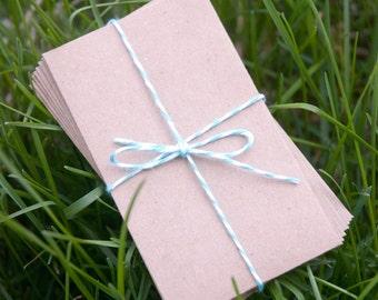100 Kraft Coin Envelopes, brown bag kraft. Perfect for wedding favors, letterpress, crafts, etc