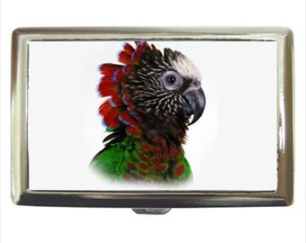 Hawk Head Hawkhead Parrot Bird Money Cigarette Case Chrome Holder Wallet