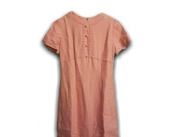 1950s Wiggle Dress Maggi Stover Dress - Pink Wiggle Dress 1950s Vintage Dress Mad Man Dress - Pin Up Dress