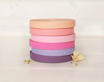 """Cotton Ribbon - By the Yard - 100% Cotton Ribbon from Italy - 17mm - 5/8"""" width - Beautiful Colorful Cotton Ribbons - Eco Friendly Ribbons"""