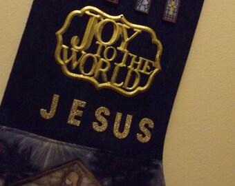 Joy to the World stocking
