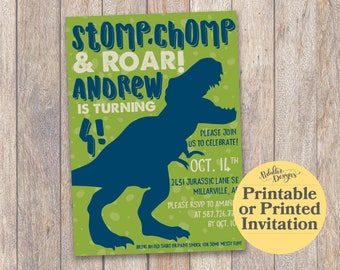 Dinosaur Birthday Invitation, Dinosaur Birthday Party, Dinosaur Party Printable Invitation, Dinosaur Birthday Invite, First 1st Birthday Boy
