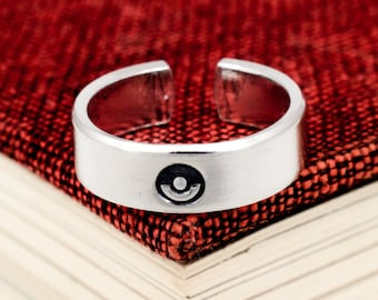 Pokeball Ring - Retro Video Games - Gamer Gift - Gifts for Gamers - Video Game Jewelry