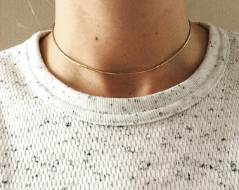 Gold Collar Choker - Gold Choker Necklace - Gold Bead Necklace - Neaptide Designs