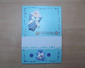 """Congratulations"" card for boy, handmade."