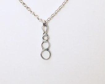 Fine Silver Maternity necklace, #AndBabyMakesThree,