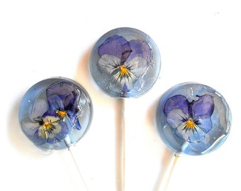 WEDDING FAVORS, Spring Flowers, Flower Lollipops, Flower Lollipop, Blueberry Ice, Viola Party Favor, Sweet, Wedding Party, Baby Shower 25