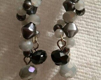 Smokey Gray Dangle Earrings