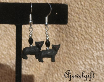 Black Panther Earrings 16024