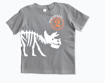 Dinosaur Birthday T-Shirt, Personalized dinosaur birthday shirt, Triceratops birthday,Dinosaur Party theme, Dinosaur Invites, Boys shirt
