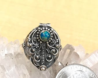 Opal Poison Ring Size 9
