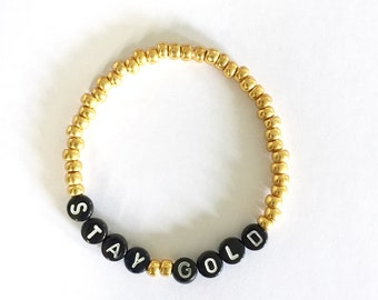 STAY GOLD Beaded Bracelet