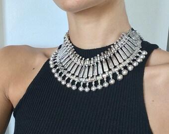 Statement Collar Bib Necklace- Ball & Chain