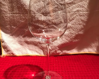 "Tiffany and Company ""Classic"" burgundy wine glass"
