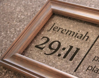 Church leader gift etsy jeremiah 2911 bible verse acrylic sign pastor gift for baptism gift for church leader negle Image collections