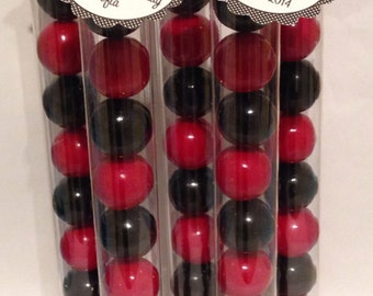 Ladybug Black And Red Gumball Tube Favors   Ladybug Party Favor   Lady Bug  Birthday Party