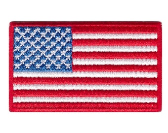 """Small United States Flag Iron On Patch 2.5"""" x 1.5"""" inch Free Shipping"""