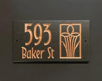 Morris Style Address Sign