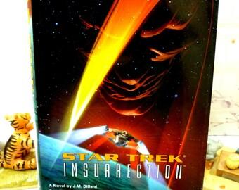 Star Trek Insurrection 1st Ed 1st Printing Star Trek Novel Hardback with Dust Cover Pocket Books 1990s