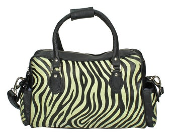 50% OFF - Hand Painted Genuine Leather Bag - Zebra