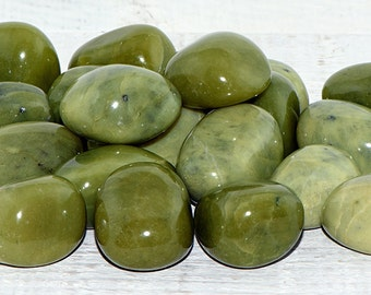 Serpentine Tumbled Gemstone - Small - Stone for Prosperity