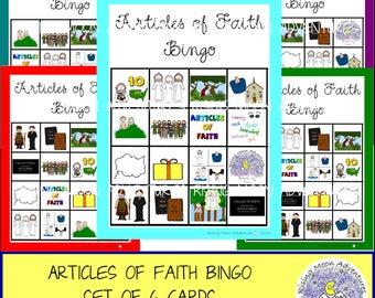 Articles of Faith Bingo Game Set of 6
