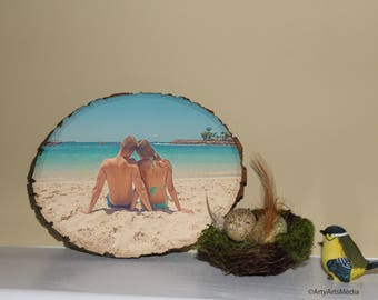 beach time, summer days, picture on wood, couple gift.
